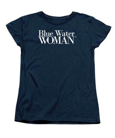 Blue Water Woman White Logo - Women's T-Shirt (Standard Fit)