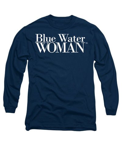 Blue Water Woman White Logo - Long Sleeve T-Shirt