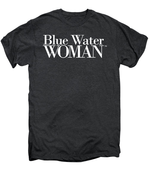 Blue Water Woman White Logo - Men's Premium T-Shirt