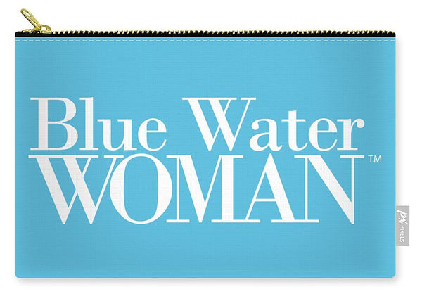 Blue Water Woman White Logo - Carry-All Pouch
