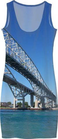 Port Huron Blue Water Bridge Dress