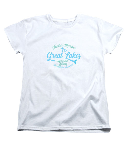 Great Lakes T Shirt - Great Lakes Mermaid T Shirt - Charter Member Great Lakes Mermaid Society - Women's T-Shirt (Standard Fit)