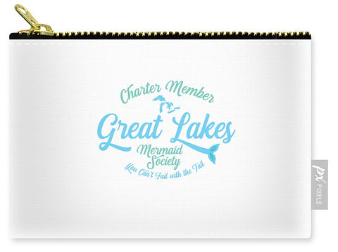 Great Lakes Pouch - Great Lakes Mermaid Pouch - Charter Member Great Lakes Mermaid Society - Carry-All Pouch