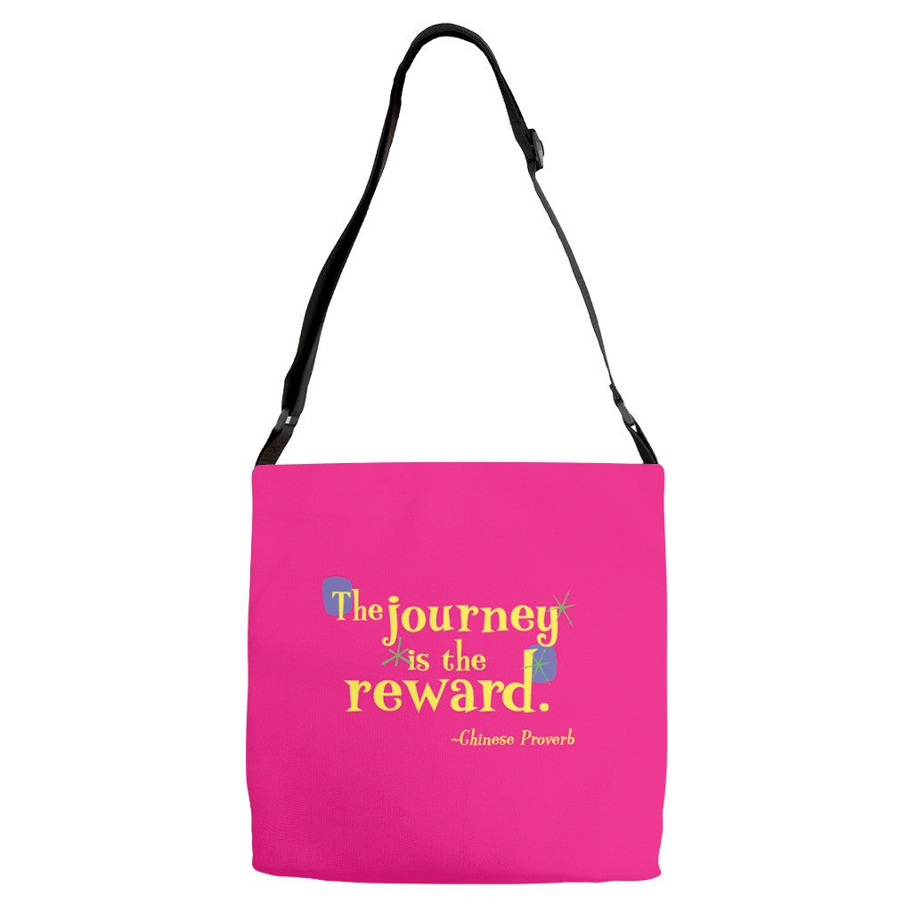 Fun Adjustable Strap Tote -- The journey is the reward.
