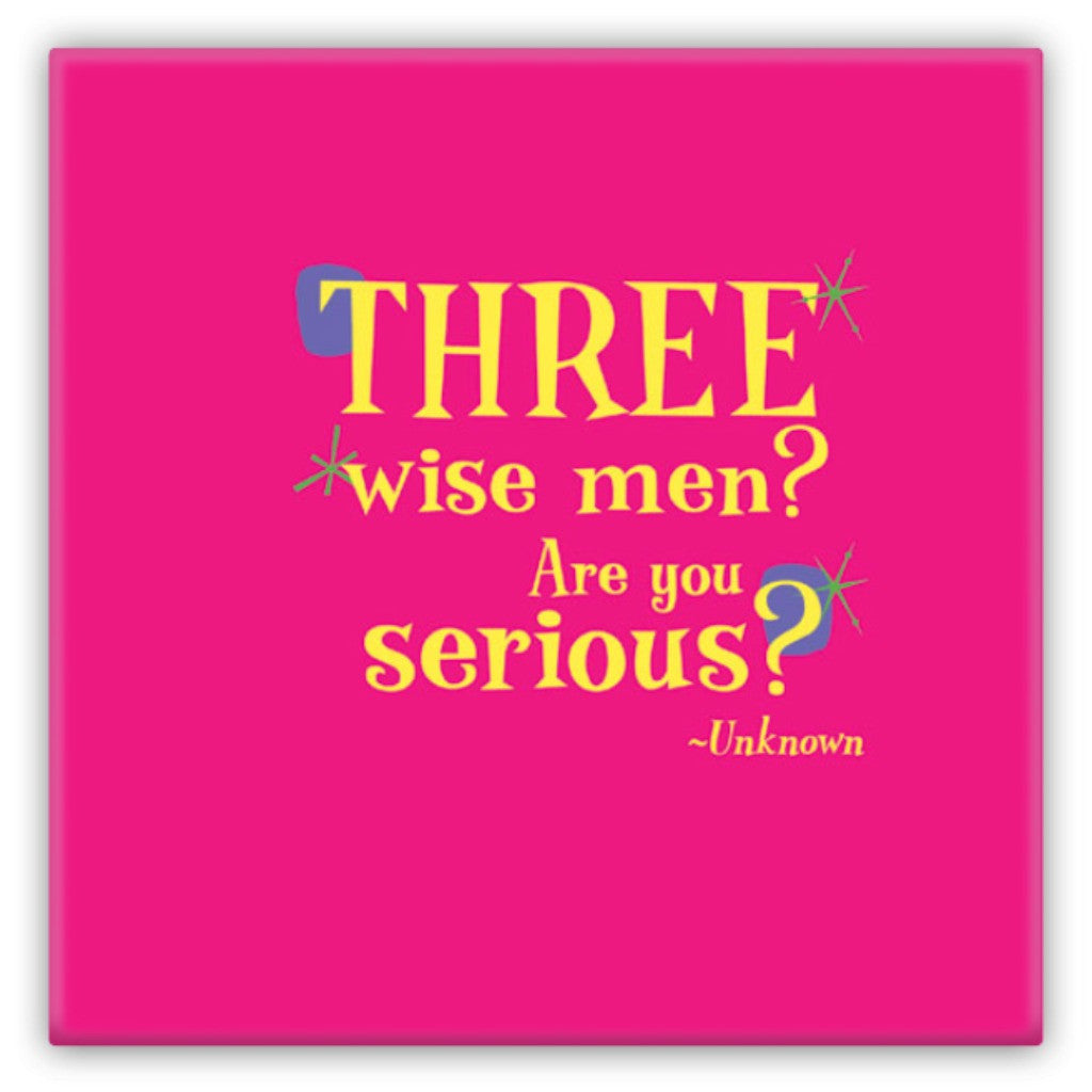 Metal Fun Refrigerator Magnet -- Three wise men? Are you serious?