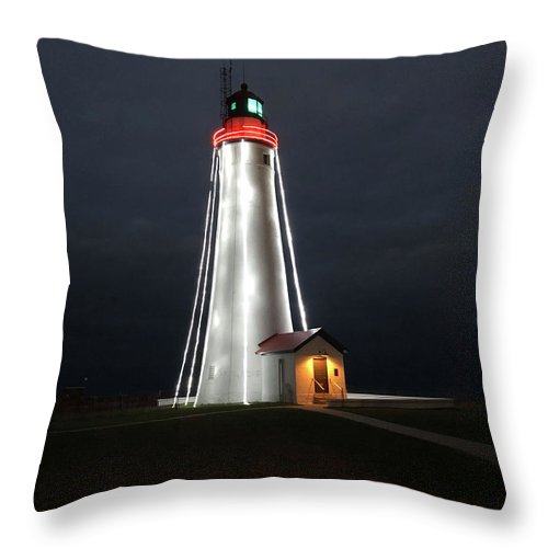 Fort Gratiot Lighthouse - Throw Pillow