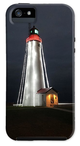 Fort Gratiot Lighthouse At Christmas - Phone Case