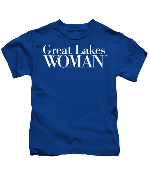Great Lakes Woman White Logo - Kids T-Shirt