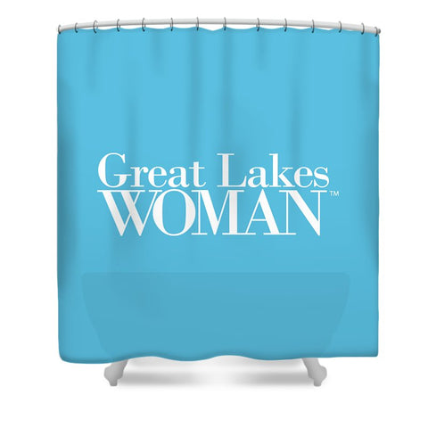 Great Lakes Woman White Logo - Shower Curtain
