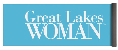 Great Lakes Woman White Logo - Yoga Mat