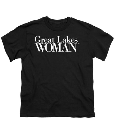 Great Lakes Woman White Logo - Youth T-Shirt