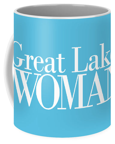 Great Lakes Woman White Logo - Mug