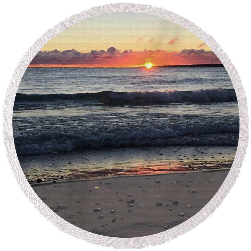 Lake Huron Round Beach Towel