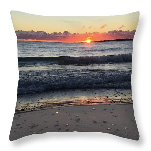 Lake Huron Beach Sunrise - Throw Pillow