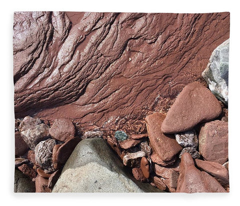 Lake Superior Beach Rock - Blanket
