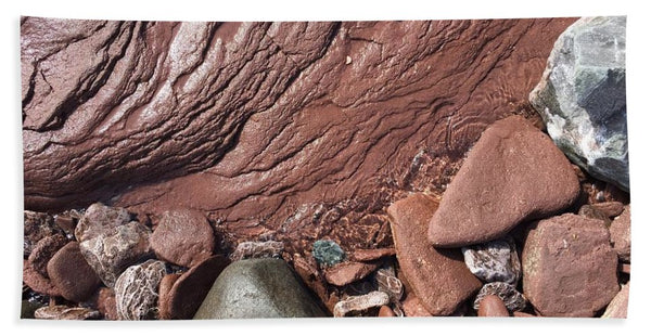 Lake Superior Beach Rock - Beach Towel