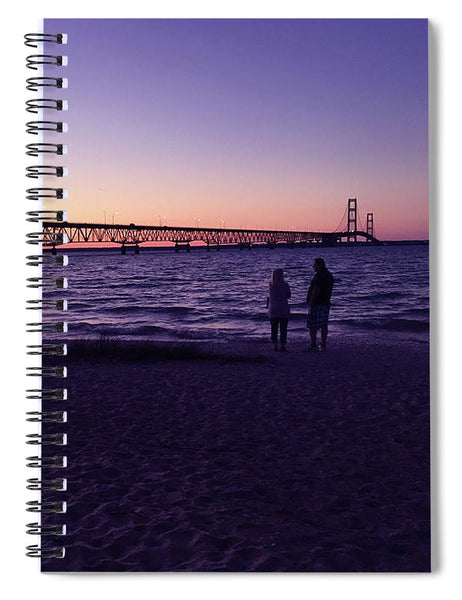 Mackinac Bridge Spiral Notebook