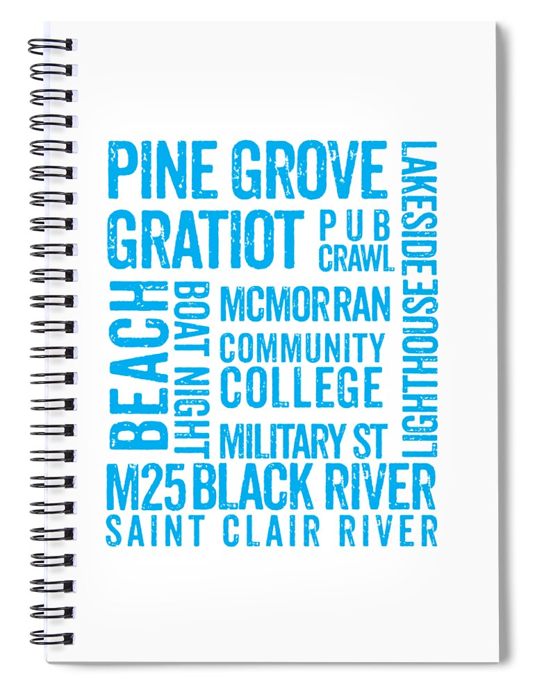 Port Huron Michigan Places - Spiral Notebook