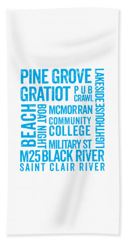 Port Huron Michigan Places - Beach Towel