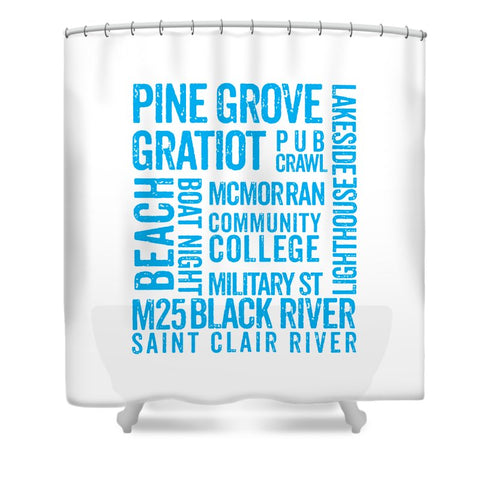 Port Huron Michigan Places - Shower Curtain
