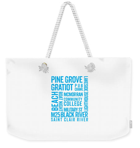 Port Huron Gifts -- Port Huron Tote Bag -- Weekender Tote Bag