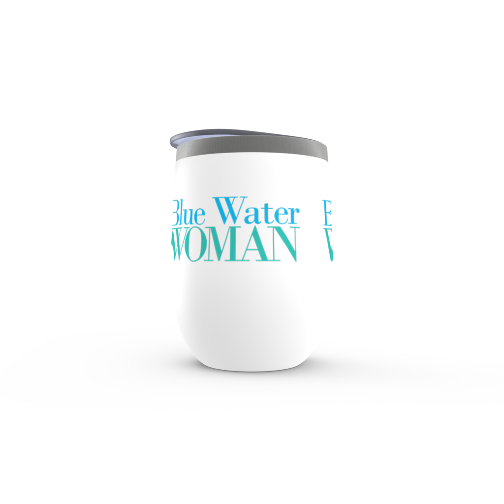 Blue Water Woman Stemless Wine Tumbler
