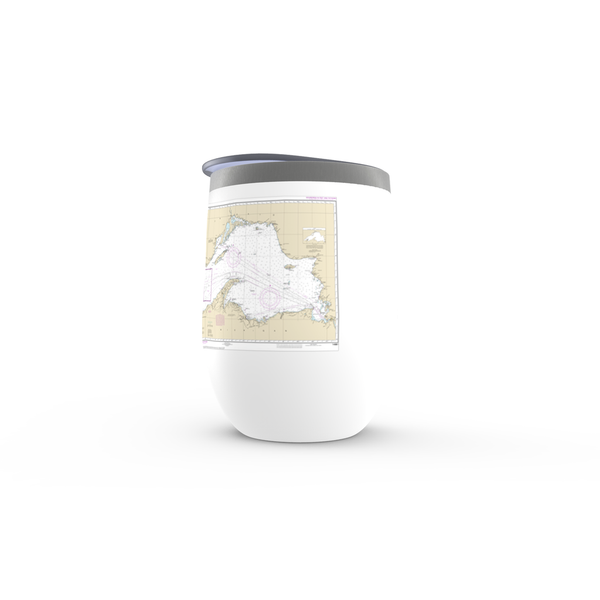 Lake Superior NOAA Chart Stemless Wine Tumbler