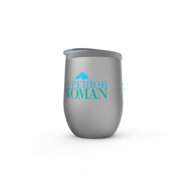 Lake Superior Stemless Wine Tumblers - Superior Woman Stemless Wine Tumblers