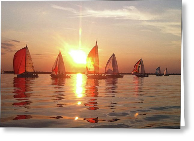 Sailboats On Lake Huron - Greeting Card