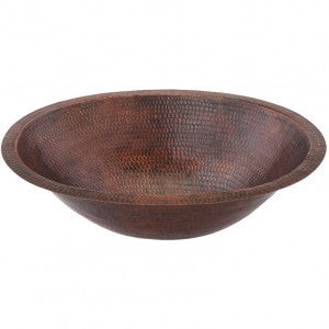 Small Oval Under Counter Hammered Copper Sink (NO SHIPPING)