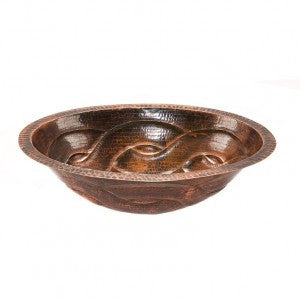 Oval Braid Under Counter Hammered Copper Sink (NO SHIPPING)