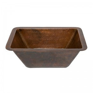 Rectangle Hammered Copper Bathroom Sink (NO SHIPPING)