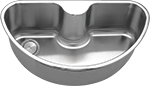 C-Shaped Undermount Laundry Stainless Sink (NO SHIPPING)