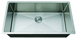 Single Bowl Round Corner Square Undermount Farmhouse Stainless Sink (NO SHIPPING)