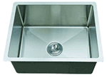 Single Bowl Round Corner Farmhouse Stainless Sink (NO SHIPPING)