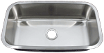 Undermount Single Bowl Round Corner Stainless Sink (NO SHIPPING)