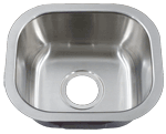 Undermount Small Single Bowl Round Corner Stainless Sink (NO SHIPPING)