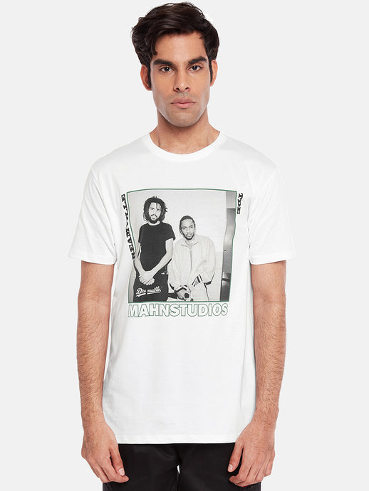 T-shirt with Jcole and Kenny print