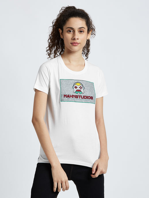 Mahnstudios Gaming championship embroidered t-shirt selling online in India | Streetwear by MAHN