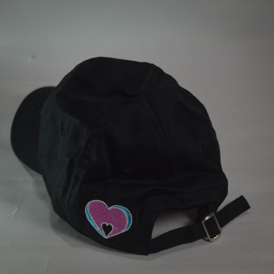 Minimalist Love Black Solid Dad Hat - Mahnstudios | Season 3 - MAHN