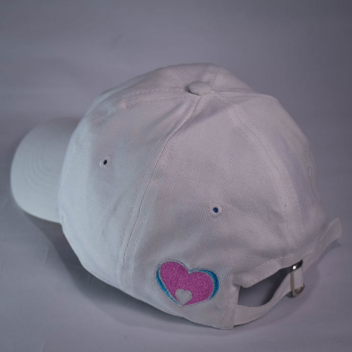 Minimalist Love White Solid Dad Hat - Mahnstudios | Season 3 - MAHN
