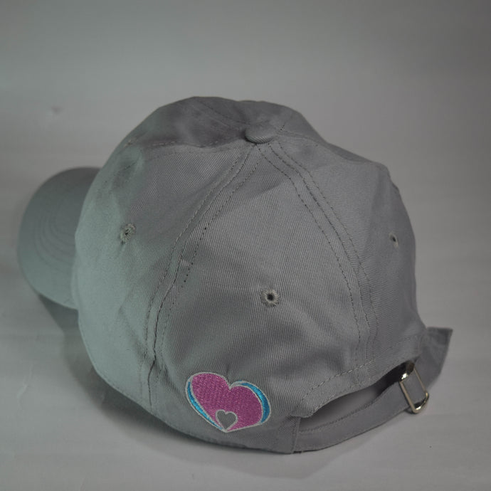 Minimalist Love Grey Solid Dad Hat - Mahnstudios | Season 3 - MAHN
