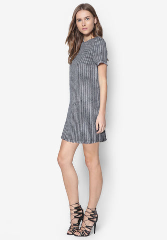 Gray Wrap Slip Dress
