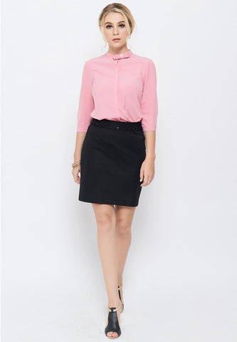 Pink Women Polyester Shirt