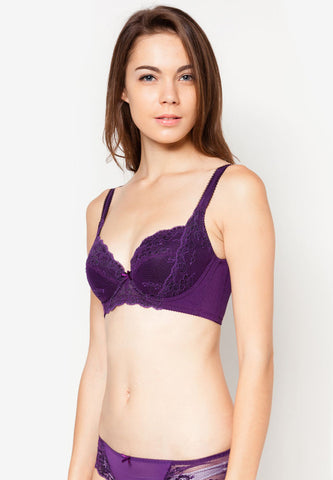 Purple Velvet Bra