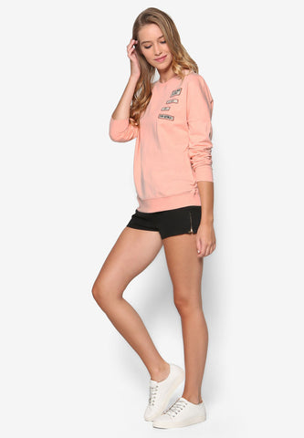 Orange Cotton Long Sleeve Shirt