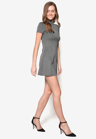 Gray Mid Satin Dress