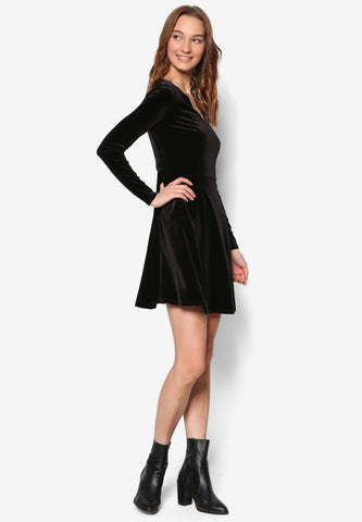 Knit Satin Dress