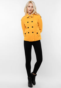Yellow Pure Cotton Coat