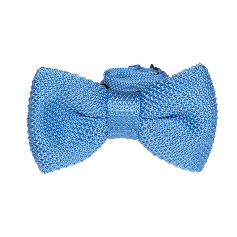 Knitted bowtie Albert blue